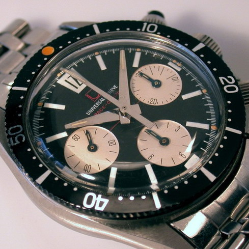 Universal Geneve Space Compax, with Rotating Minutes Bezel