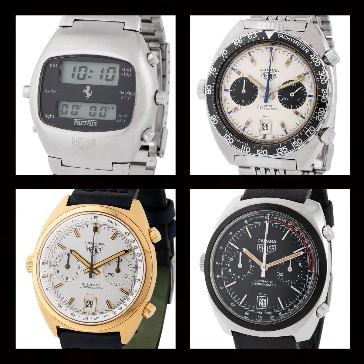 Auction Watch – Monaco Legend Group Selling 24 Heuer Chronographs, October 31, 2020